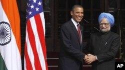 Tổng thống Hoa Kỳ Barack Obama và Thủ tướng Ấn Ðộ Manmohan Singh.