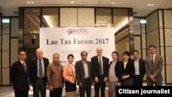 ສະພາການຄ້າ ແລະອຸດສາຫະກຳ ຂອງປະເທດຢູໂຣບ ປະຈຳ ລາວ ໄດ້ຈັດກອງປະຊຸມ ແລກປ່ຽນຄວາມຄິດເຫັນ ຂອງບັນດານັກຊ່ຽວຊານ ແລະເຈົ້າໜ້າທີ່ໆກ່ຽວຂ້ອງ ກ່ຽວກັບ ລະບົບການເກັບພາສີ ທີ່ເອີ້ນວ່າ Lao Tax Forum 2017 ຄັ້ງທຳອິດ ຢູ່ທີ່ນະຄອນວຽງຈັນ.