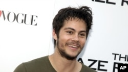 """Dylan O'Brien, star of """"The Maze Runner,"""" attends a screening of the film in New York City."""