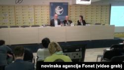 Sa predstavljanja Globalnog indeksa percepcije korupcije Transparentnosti Srbija, Foto: Video grab
