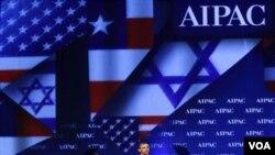 Presiden Barack Obama saat memberikan pidato pada forum American Israel Public Affairs Committee (AIPAC), di Washington (22/5).