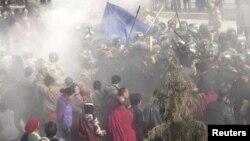 تبتی باشندوں کے حقوق کی تنظیم آئی سی ٹی کی جانب سے حال میں جاری کی جانے والی خودسوزی کی ایک تصویر۔ 7 دسمبر 2012