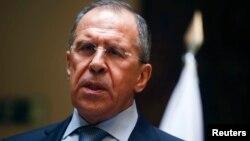 """Menlu Rusia Sergei Lavrov mengatakan, sanksi-sanksi terhadap Rusia """"tidak bisa diterima"""" dan bukannya tanpa konsekuensi (foto: dok)."""