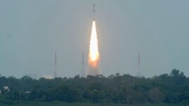 India's Polar Satellite Launch Vehicle (PSLV) C-21 blasts off from the Satish Dhawan space centre at Sriharikota, north of the southern Indian city of Chennai, September 9, 2012.