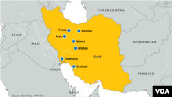 Nuclear facilities and sites in Iran