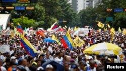 Manifestação na Venezuela organizada pela oposição