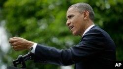 16일 백악관 기자회견에서 기자들의 질문에 답하는 바락 오바마 미국 대통령.