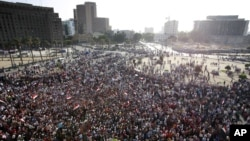 Egyptians gather in Tahrir Square in Cairo, Egypt, June 2, 2012.