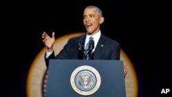 سخنرانی باراک اوباما در شیکاگو، سه شنبه شب
