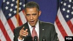 Presiden Obama menyatakan, produk AS harus menjadi yang terbaik di dunia supaya unggul di pasar global.