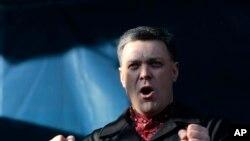 Jedan od opozicionih lidera Oleh Tiahnebok obratio se danas demonstrantima