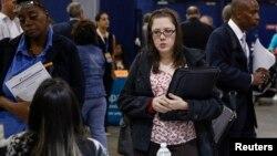 지난해 10월 미국 뉴욕 주 유니언데일에서 열린 취업박람회. (자료사진)