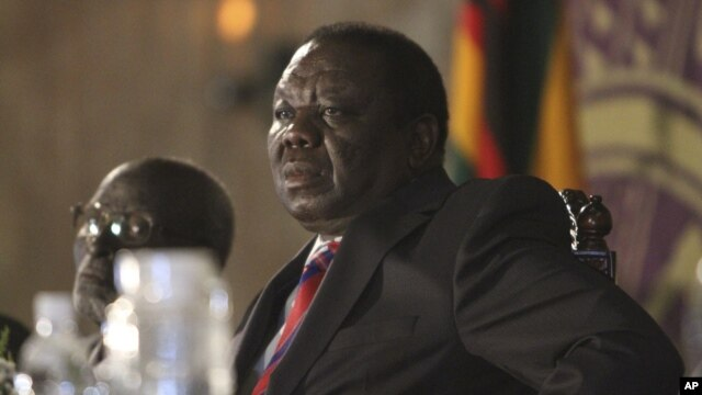 Zimbabwean Prime Minister Morgan Tsvangirai is seen during a meeting with President Robert Mugabe in Harare (file).