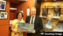 Sabrina Islam with Ambassador Mozena