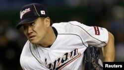 일본 프로야구 라쿠텐 골든이글스팀의 투수 다나카 마사히로.