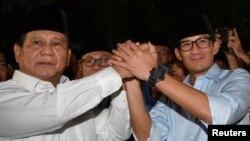 Capres Prabowo Subianto dan Cawapres Sandiaga Uno (Foto: Antara/Reuters).