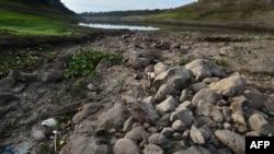 Vista general de la sequía registrada en la Reserva Natural de Los Laureles en Tegucigalpa, Honduras, el 14 de septiembre de 2019.