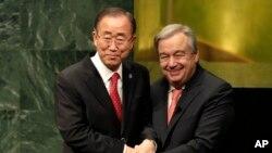 Tsohon Sakatare Ban Ki-moon da sabon Antonio Gutarres
