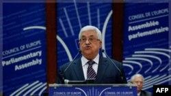 Palestinski predsednik Mahmud Abas se obraća Parlamentarnoj skupštini Saveta Evrope, Strazbur, 6. oktobar 2011.