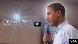 Gambar dari situs kampenya pemilihan kembali Presiden AS Barack Obama. Obama meluncurkan video yang resmi menandai awal kampanyenya untuk November 2012.