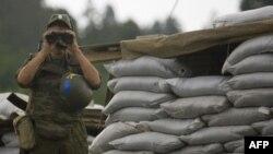 Российский миротворец в Южной Осетии. Архивное фото. Сентябрь 2008г.