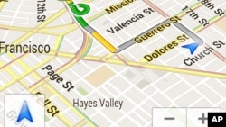 A screenshot provided by Google shows the Google Maps Navigation app for Android phones.