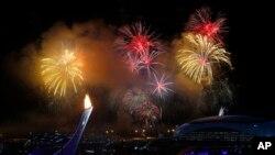 동계올림픽 개막식을 수놓은 불꽃놀이