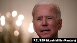Predsednik Sjedinjenih Američkih Država Joe Biden tokom obraćanja u Beloj kući. (Foto:REUTERS/Leah Millis)