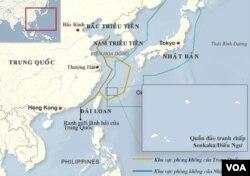 Vùng phòng không Trung Quốc mới thiết lập ở Biển Hoa Đông