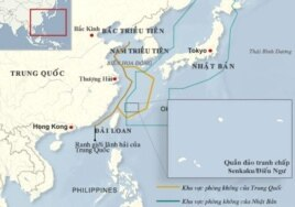 Bản đồ vùng phòng không Trung Quốc - Nhật Bản