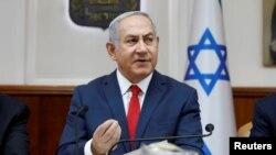 El primer ministro israelí, Benjamin Netanyahu, en una reunión de su gabiente en Jerusalén.