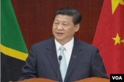 中國國家主席習近平在坦桑尼亞發表演講