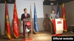 Lideri Demokrata i URA-e, Aleksa Bečić i Dritan Abazović (rtcg.me)