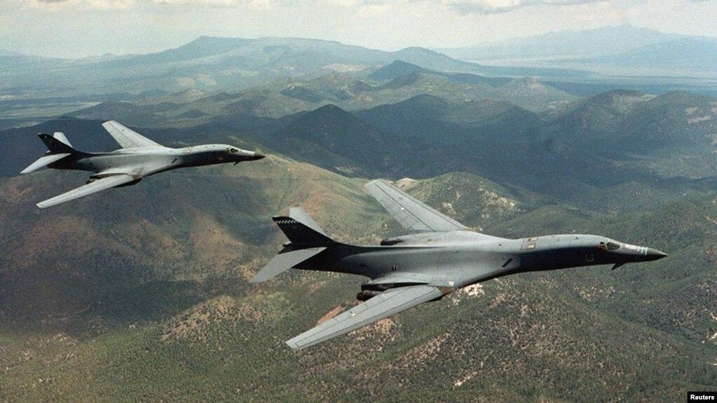 Máy bay ném bom B-1B Lancer của Mỹ.
