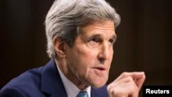 Ngoại trưởng Hoa Kỳ John Kerry điều trần trước Ủy ban Đối ngoại Thượng viện về 'Chiến lược của Mỹ để đánh bại Nhà nước Hồi giáo' tại Điện Capitol, ngày 17/9/2014.