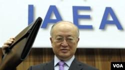 Direktur badan energi nuklir PBB (IAEA) Yukiya Amano dalam pertemuan di markas IAEA di Wina (foto: dok).