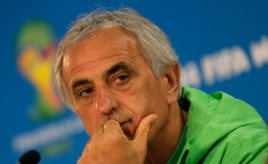 Vahid Halilhodzic, coach of Algeria's national soccer team, at a news conference in Porto Alegre, Brazil, June 29, 2014.