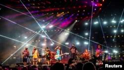 Bruno Mars tampil di the Bottle Rock, Napa Valley Music Festival di Napa Valley Expo tanggal 27 Mei 2018 di Napa, California (foto: Amy Harris/Invision/AP)