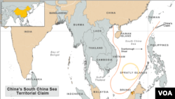 Map showing area of South China Sea dispute