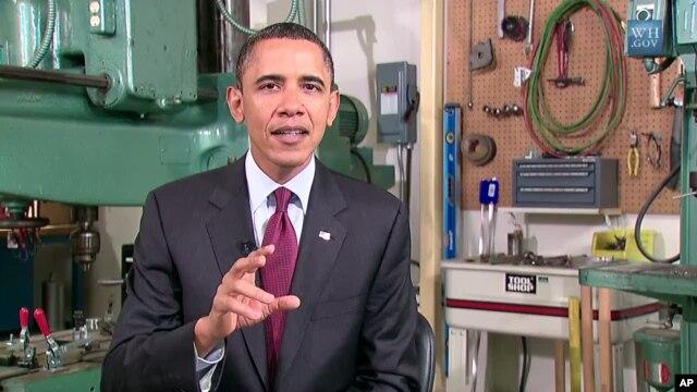 President Barack Obama delivers his weekly address, Jan 29, 2011