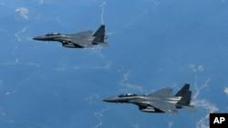 Máy bay F-15K của Hàn Quốc.