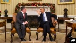 Король Иордании Абдалла и Барак Обама