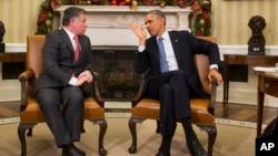 El presidente Barack Obama, derecha, se reunió con el rey de Jordania Abdalá II en la Casa Blanca el pasado mes de diciembre.