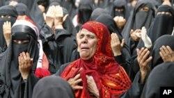 7月1号一些也门抗议者要求总统萨利赫辞职