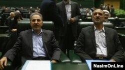 فخرالدین احمدی دانشآشتیانی و محمدعلی نجفی در مجلس شورای اسلامی - آبان ۱۳۹۳