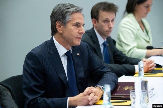 Госсекретарь Энтони Блинкен на переговорах с Сергеем Лавровым