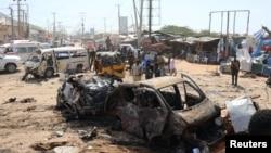 Mesto eksplozije u Mogadišu