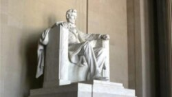 A National Park Service ranger at the Lincoln Memorial in Washington talks about the 16th president on February 12, 2010, his 201st birthday