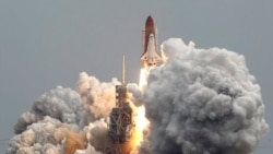 Liftoff of Atlantis on July 8 for the final flight of the space shuttle program