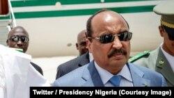 Le président de la Mauritanie, Mohammed Ould Abdel Aziz à Nouakchott, Mauritanie, le 1er juillet 2018. (Twitter/Presidency Nigeria)